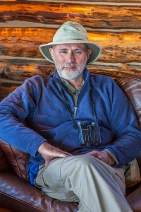 Len Rue Jr. in the lodge at Camp Denali, Denali National Park, Alaska, September 2015